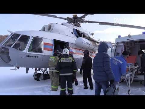 Вертолет МЧС доставил в Хабаровск пострадавшего при пожаре из ЕАО