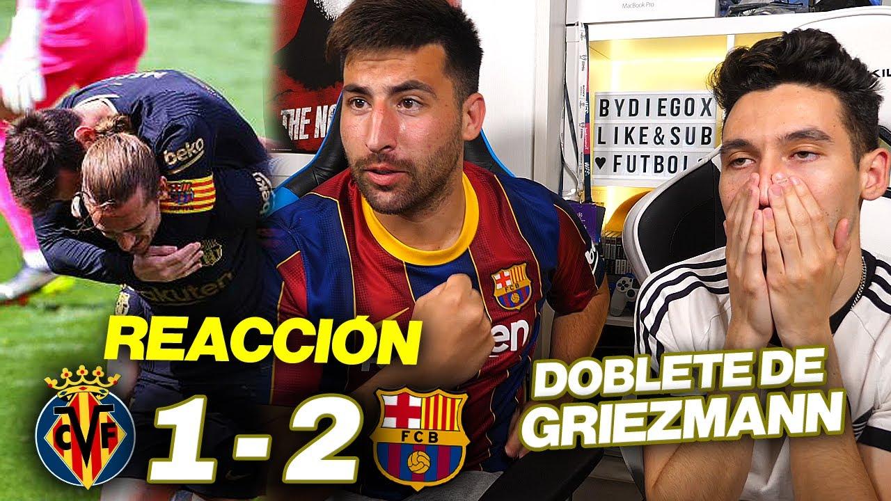 Download REACCIONANDO con HINCHA del BARÇA al Villarreal vs Barcelona 1-2 *DOBLETE de GRIEZMANN*