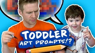 MY 3 YEAR OLD TODDLER tells me what to DRAW!?