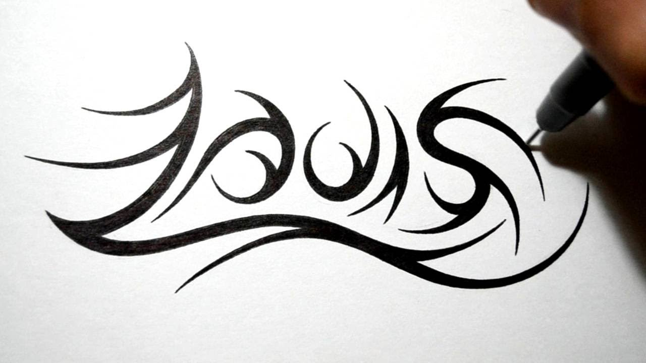 Tribal Name Tattoo Design: Drawing Tribal Name Tattoo Design