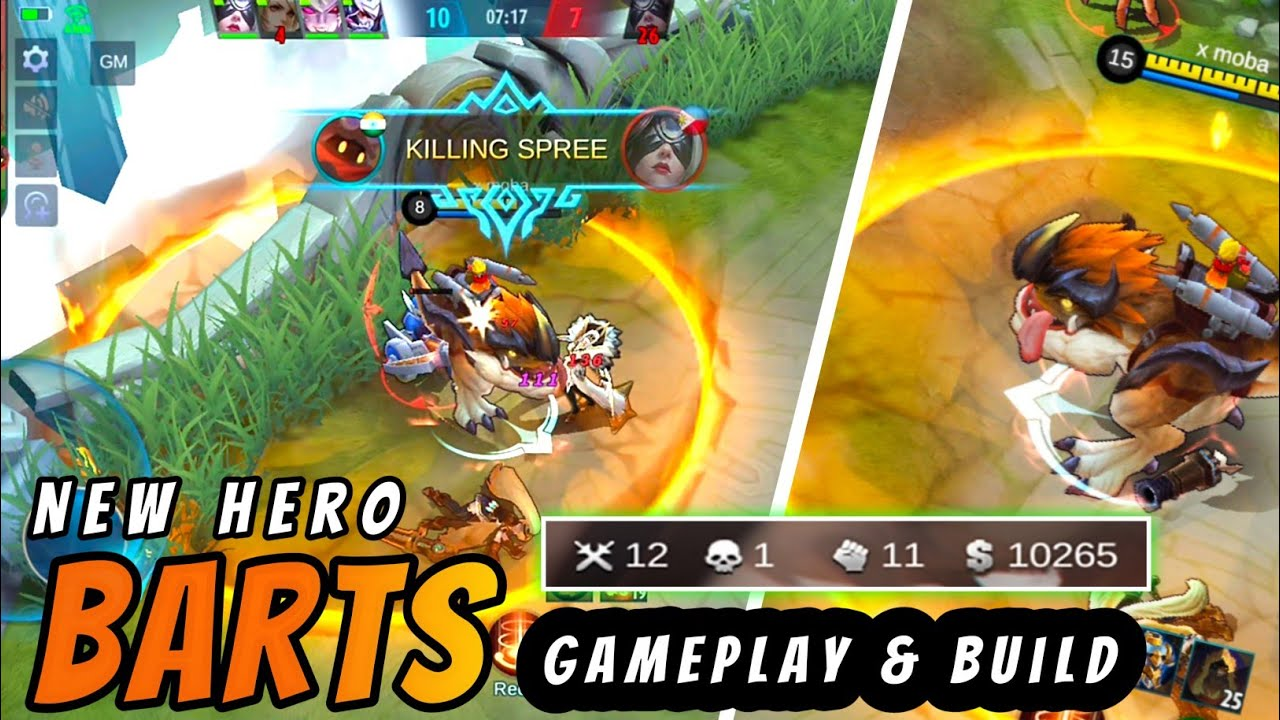 New Hero Barts Gameplay And Build : Mobile Legends Bang Bang