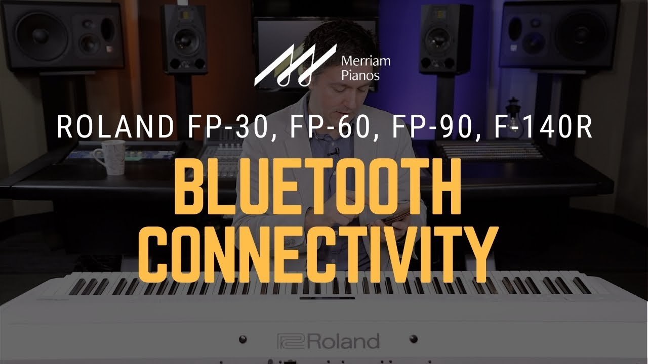 How To Connect Your Roland Digital Piano To Bluetooth Piano Partner 2 Garageband Bluetooth Midi Youtube