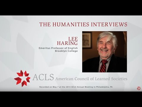 The Humanities Interviews: Lee Haring