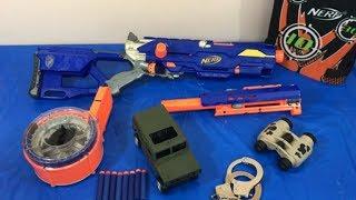 Box of Toys Toy Gun NERF Guns Military Toys Handcuffs