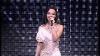 كارمن سليمان على رمش عيونها في حفل افتتاح أم بي سي مصر