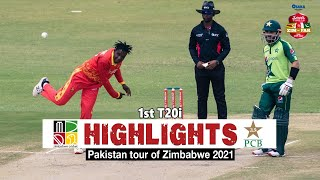 Zimbabwe vs Pakistan Highlights | 1st T20i | Pakistan tour of Zimbabwe 2021