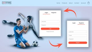 How To Make Login & Registration Page On ECommerce Website | E-commerce Web Design In HTML CSS