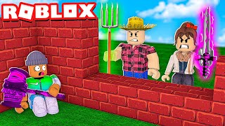ROBLOX BUILD A HIDEOUT AND SWORD FIGHT