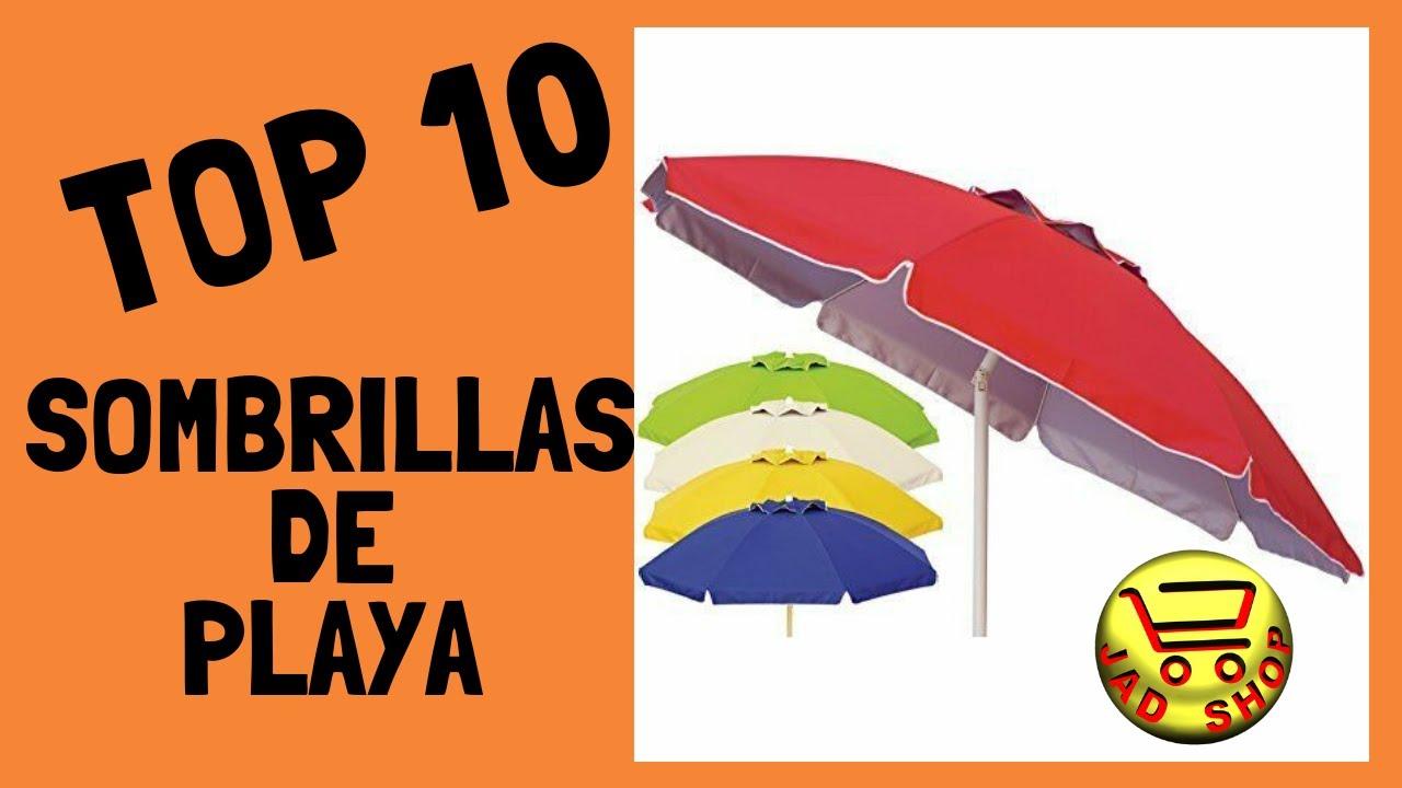 Sombrilla De Playa Jardin Y Terraza Grande 200 Cm Roja Antiviento Con Protector Solar