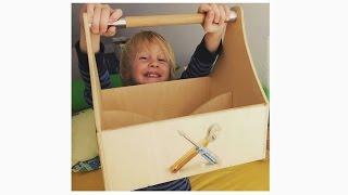 Werkzeugkiste für Kinder / Toolbox for children - diy - Next Generation Woodworker