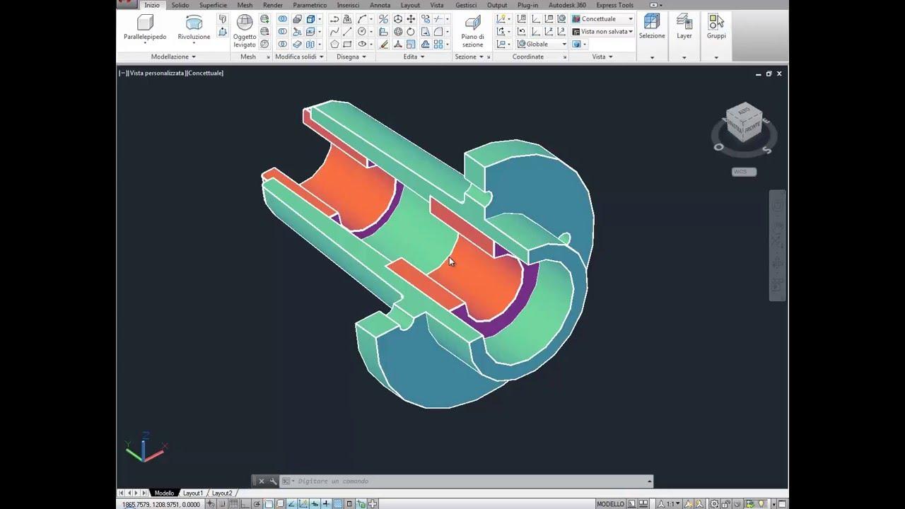 Rivoluzione realizzare oggetti 3d da sezioni con autocad for Modellazione 3d gratis