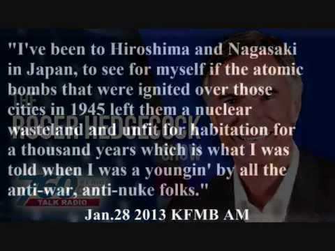 """Roger Hedgecock: Destruction of Hiroshima and Chernobyl not so bad after all, was just """"hysteria"""""""