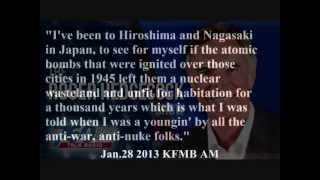 "Roger Hedgecock: Destruction of Hiroshima and Chernobyl not so bad after all, was just ""hysteria"""