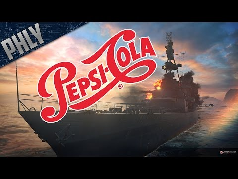 World Of Warships - PENSACOLA Heavy Cruiser Gameplay! AKA PEPSI-COLA!