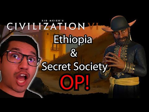 Sid Meier's Civilization VI NEW DLC- CRAZY First Look at Ethiopia and the Secret Society - pt.1 |