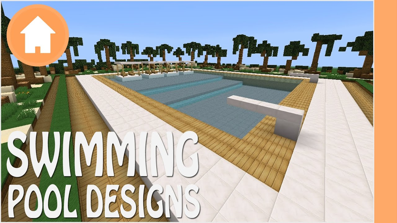 3 Swimming Pool Designs Minecraft Youtube