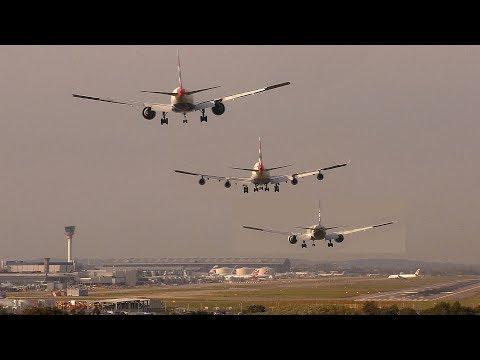 Crosswind landing compilation Boeing & Airbus