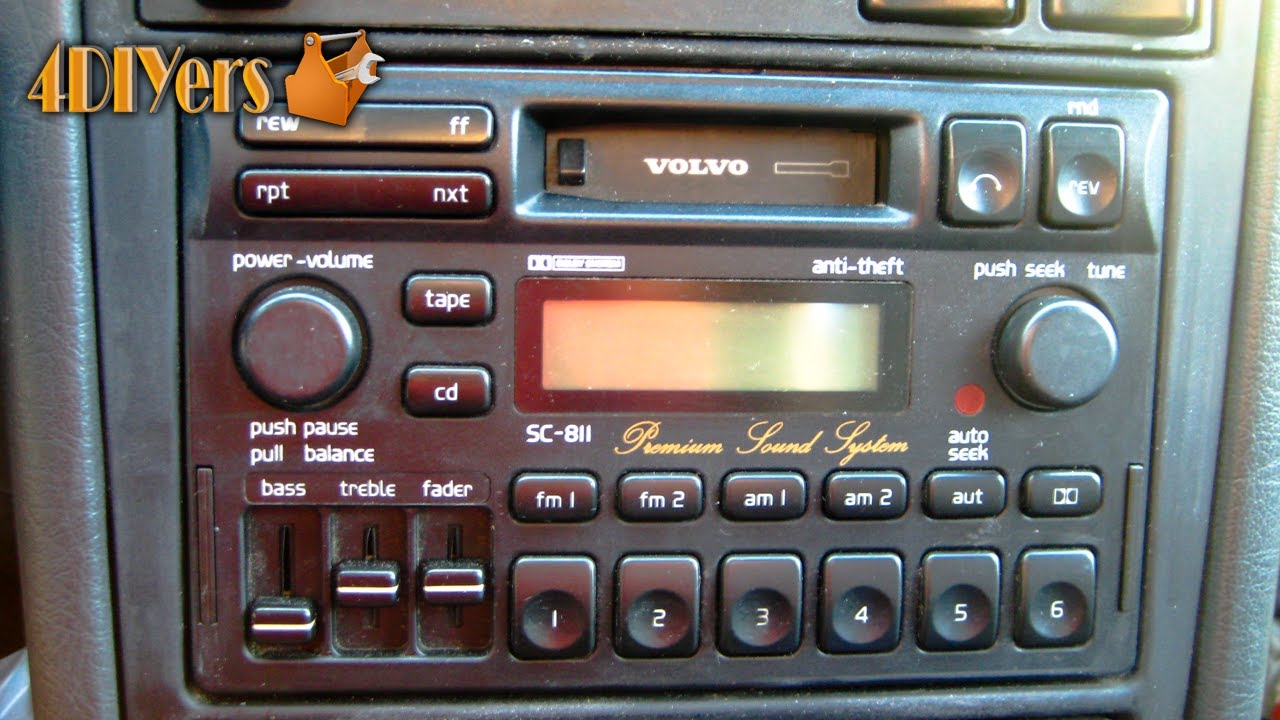 DIY: How to Remove a Volvo Radio - YouTube