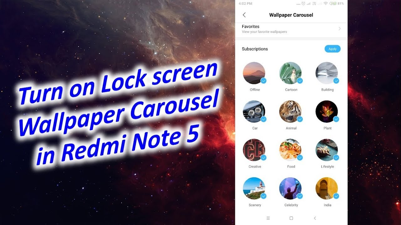 Change Lock Screen Wallpaper Automatically In Redmi Note 5 Youtube