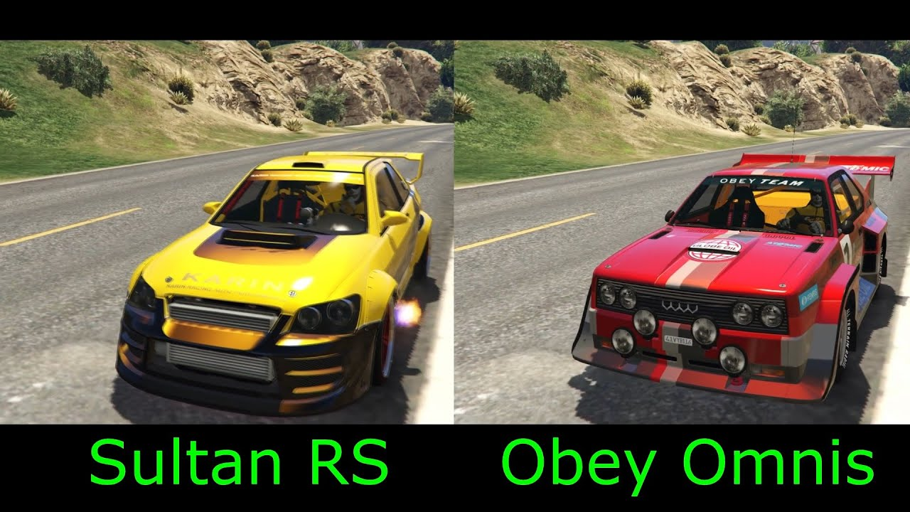 GTA 5 DLC - NEW Obey Omnis VS Sultan RS. Fastest rally car - YouTube