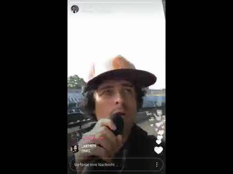 Green Day King for a Day at Soundcheck in Mansfield, Instagram Live, 08/28/17