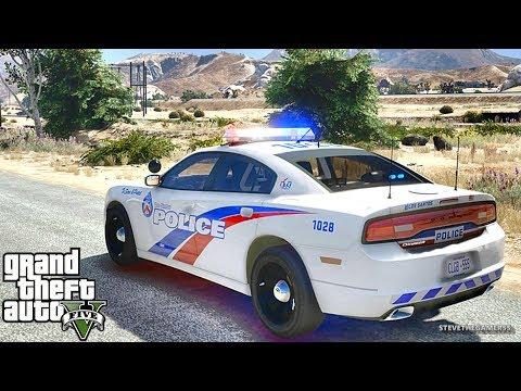GTA 5 MODS LSPDFR 861 - CHARGER PATROL!!! (GTA 5 REAL LIFE PC MOD)
