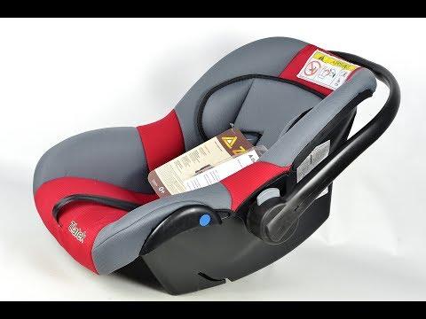 Детское авто кресло Colibri люлька с ручкой красное 0-13 кг, 0-1,5 лет ZLATEK
