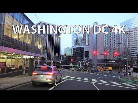 Washington DC 4K - Sunset Drive