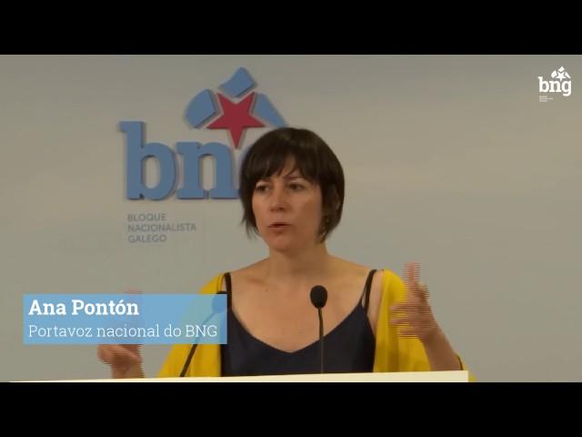 "Ana Pontón ""A Xunta ponse de lado das trasnacionais do transporte"""