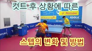 컷트 후 공격 스텝 및 방법(Table Tennis Lesson)