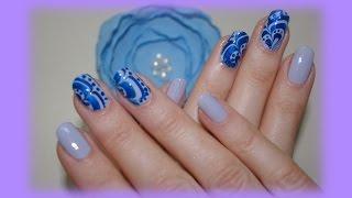 Водный маникюр в домашних условиях, БЕЗ МАКАНИЯ ПАЛЬЧИКОВ! Special water manicure. Видео урок!