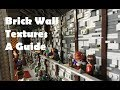 How to Build Lego Brick Wall Textures
