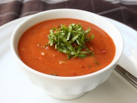 Gazpacho Recipe - Cold Tomato Cucumber Pepper Soup