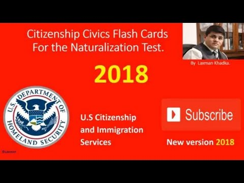 2018 US Citizenship Test Questions of Washington State.( and for all)