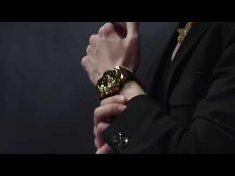 CASIO手錶公司貨G-SHOCK全金屬外殼黑色錶圈與錶盤設計GM-110B-1A~GM-110