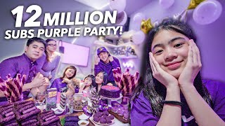 12 MILLION Subscribers EVERYTHING PURPLE Party!! | Ranz and Niana