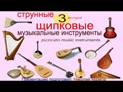 3 Струнные щипковые музыкальные инструменты