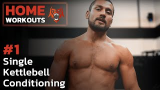 Home Workouts | Single Kettlebell Conditioning | Eric Leija