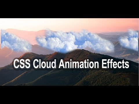CSS Cloud Animation Effect | HTML And CSS