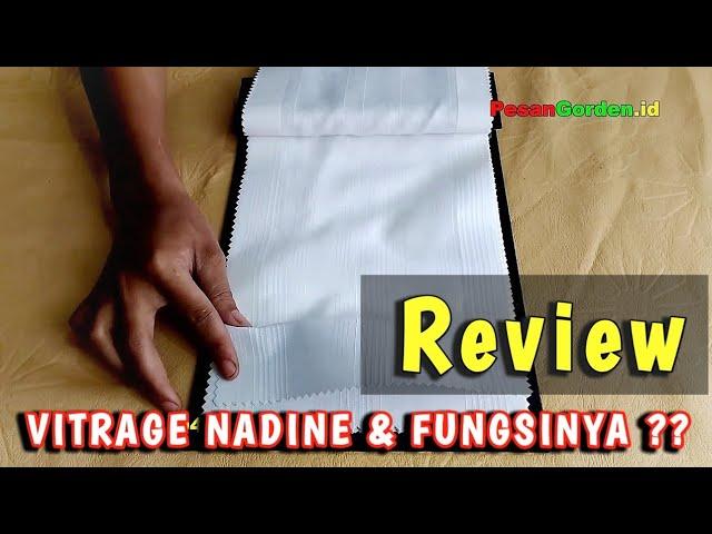 Review : Vitrage Nadine Si Gorden Tipis Transparan Yang Banyak diminati #gudanggorden 082310989451