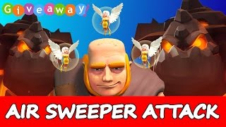 Clash Of Clans | AIR SWEEPER ATTACK! | Live Funny Attacks + 20k Sub Give Away!