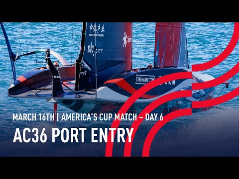 The 36thAmerica's Cup | Port Entry Stern Camera | 🔴 LIVE Day 6