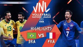 Brazil vs. France - Highlights Semi-Final 1 | Men's VNL 2021
