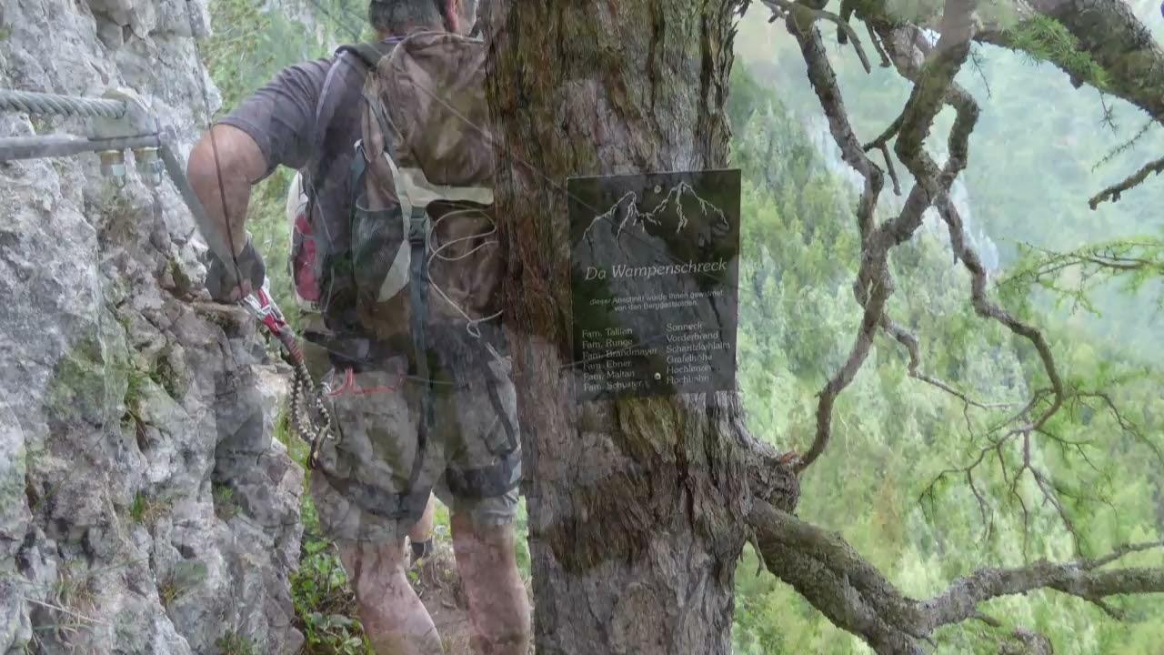 Klettersteig Jenner : Schützensteig klettersteig am kleinen jenner youtube