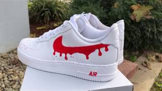 Air-Force 1 Drippy Custom!!!!!!