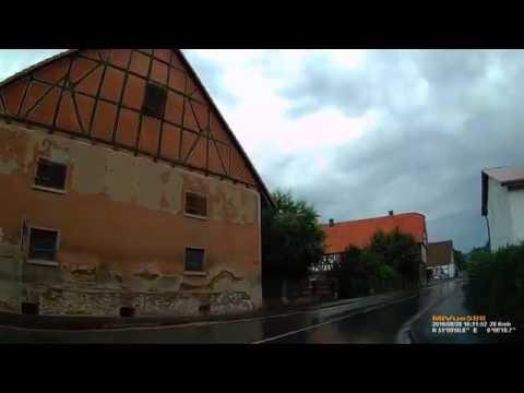D: Mehlen. Gemeinde Edertal. Landkreis Waldeck-Frankenberg. Ortsdurchfahrt. August 2016