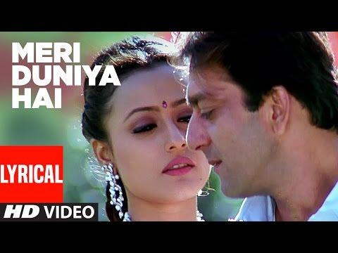 Meri Duniya Hai Lyrical Video   Vaastav - The Reality   Sonu Nigam, Kavita Krishnamurthy