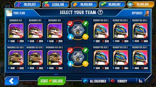 I-REX GEN1-2 Vs INDORAPTOR GEN 2 | JURASSIC WORLD THE GAME