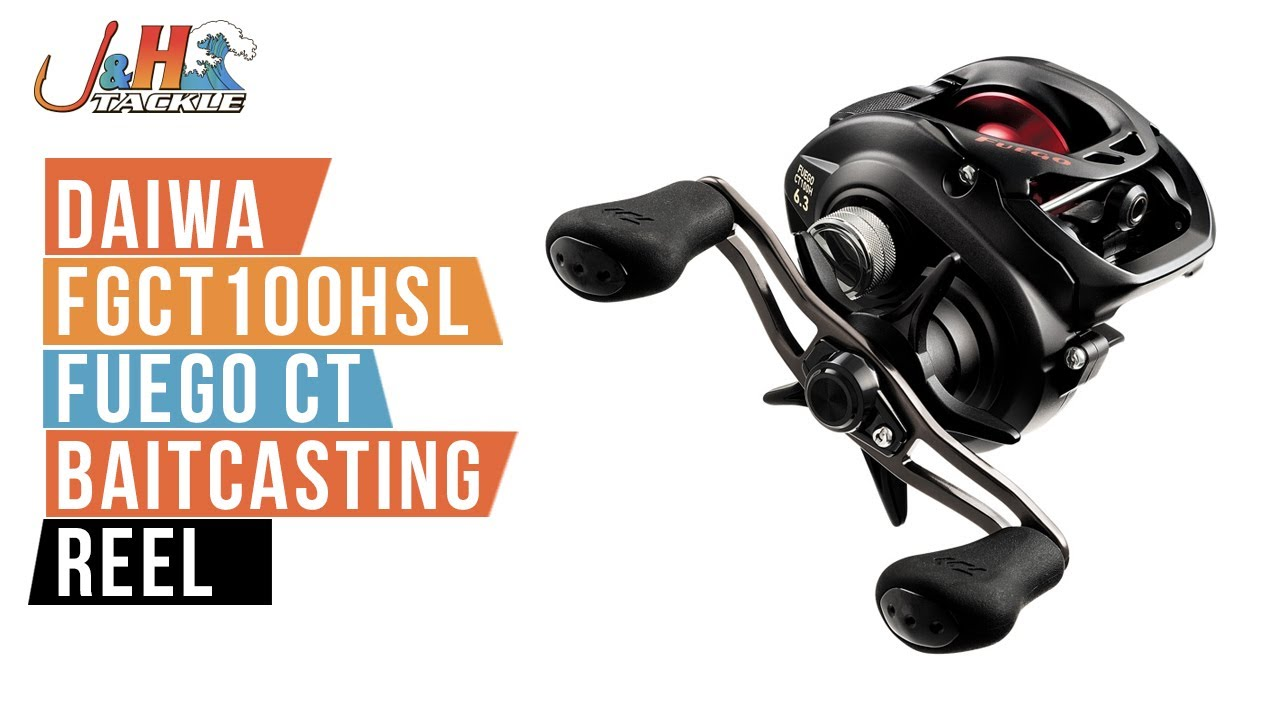 a3a8db57fb8 Daiwa FGCT100HSL Fuego CT Baitcasting Reel | J&H Tackle - YouTube