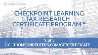 Checkpoint Learning Tax Research Certificate Program - Intro